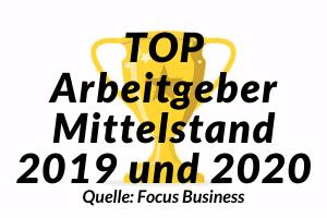 TOP Arbeitgeber Mittelstand 2019 und 2020