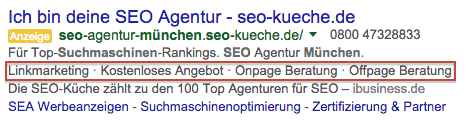 Neue Anzeigenerweiterungen bei google Adwords