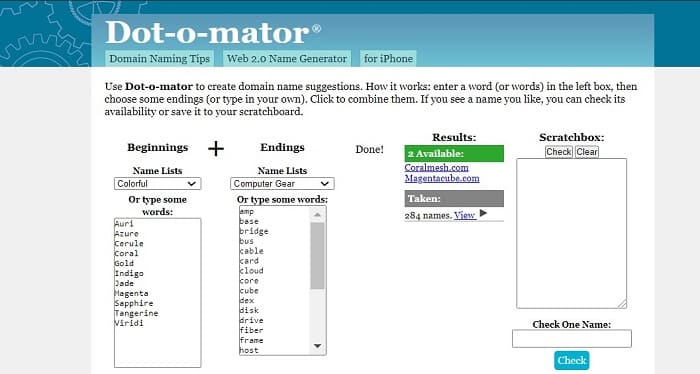 7. namensgenerator domain