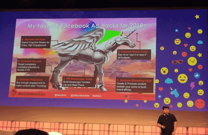 Vortrag von Larry Kim - Recap Allfacebook Marketing Conference