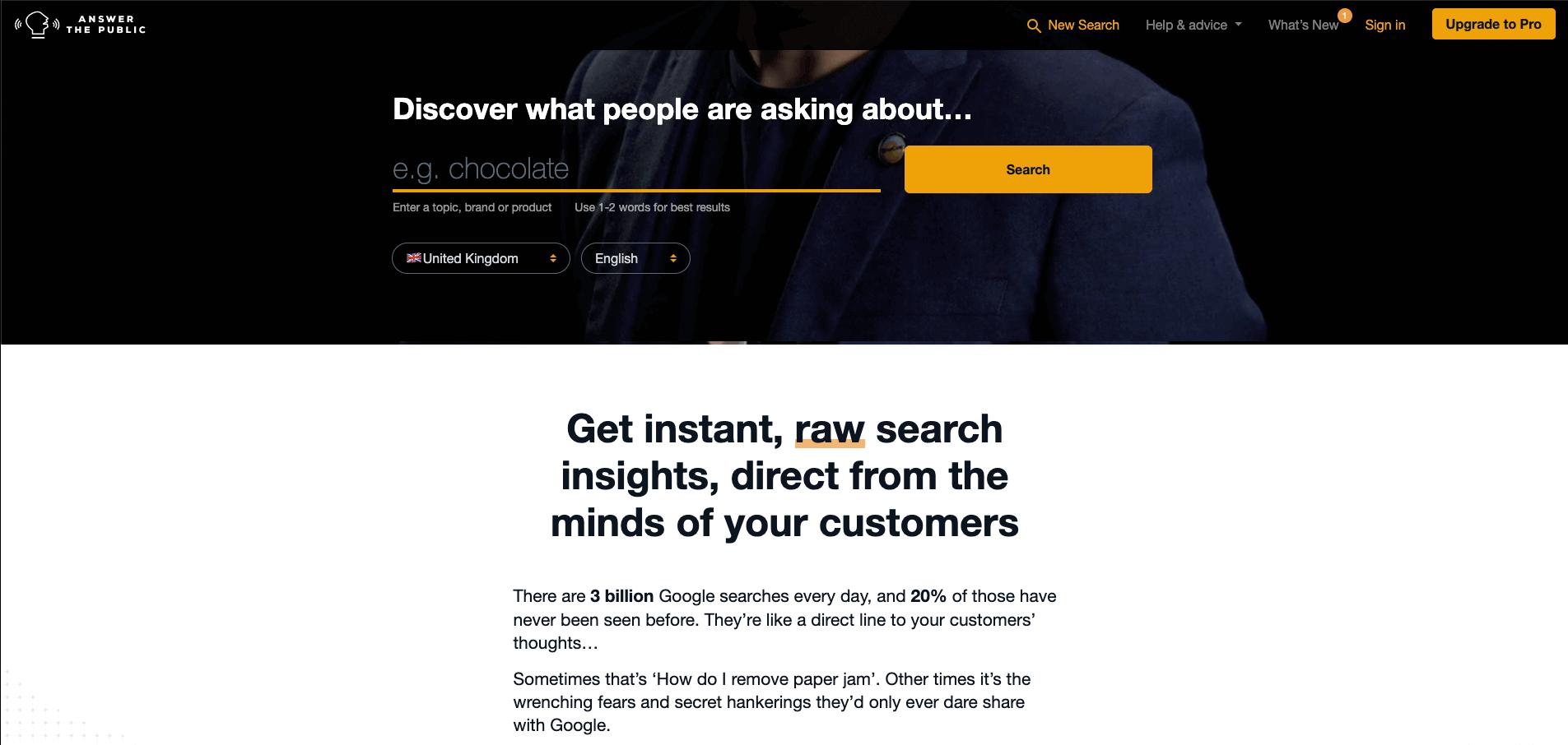 content marketing tools answerthepublic