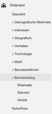 Benchmarking Auswahl