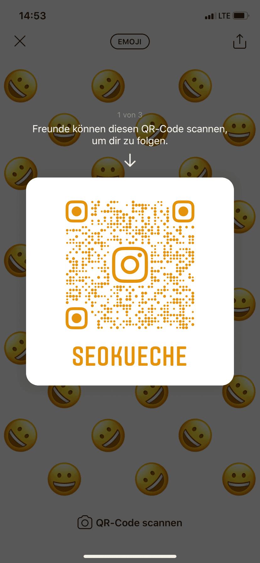 Mit dem QR-Code kann mit einem Unternehmen in Kontakt getreten und Kunden direkt auf den Instagram oder WhatsApp Account gelotst werden