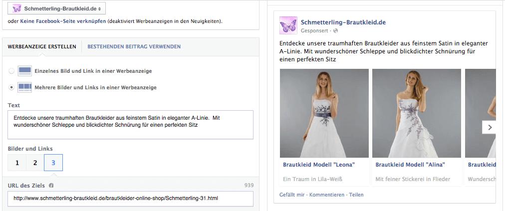 Bei Facebook mehrere Produkte in einer Anzeige bewerben. So gehts: