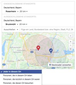 Geotargeting bei Facebook Ads
