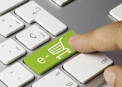 Einkaufswagen Tastatur