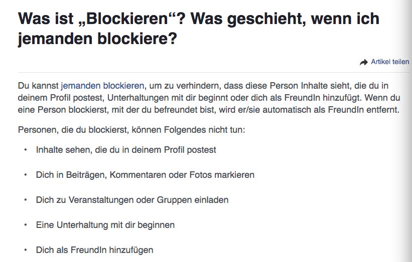 Als Facebook Adiministrator jemanden blockieren