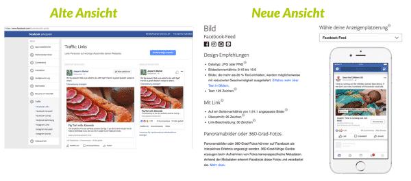 Neuer Look für Facebook Ads-Guide