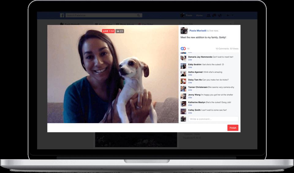 Facebook Live Videos vom PC aus