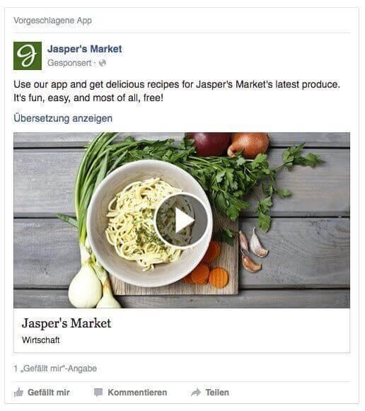 Video Link Post auf Facebook