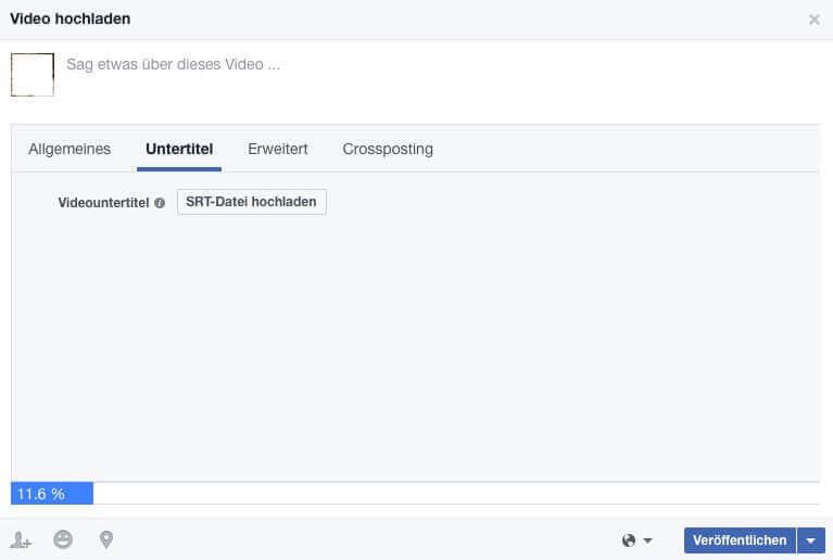Automatische Untertitel für Facebook Videos