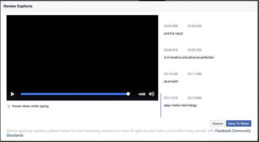 Untertitel für Facebook Video erstellen