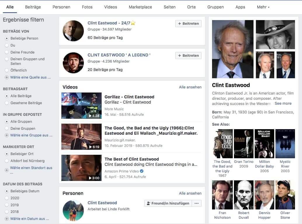 facebook suche wikipedia daten