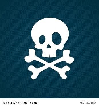 White skull icon