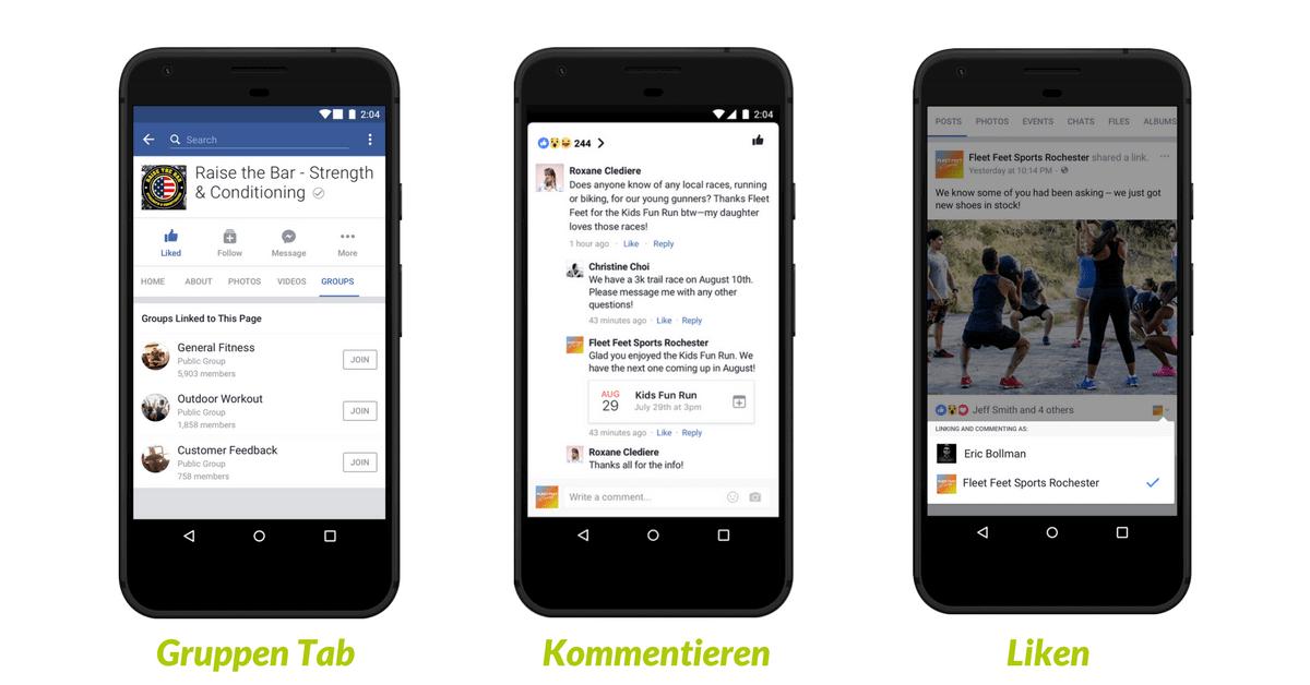 Facebook Gruppen und Seiten verknüpfen