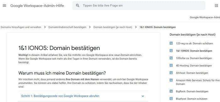 hosting anleitung search console einrichten