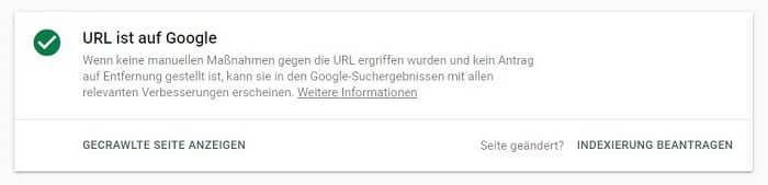 Google: Indexierung beantragen