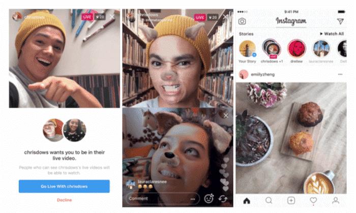 Instagram Live Videos mit Freunden
