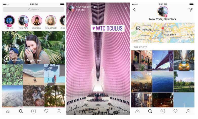 Instagram Location Stories