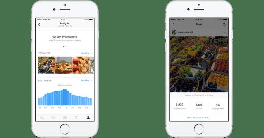 Das neue Instagram Unternehmensprofil bietet eigene Statistiken
