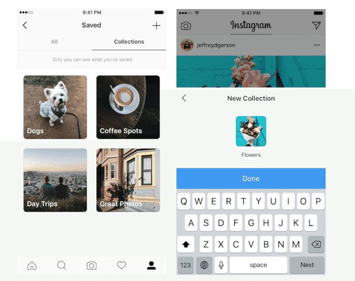 Neue Funktion: Instagram Sammlungen