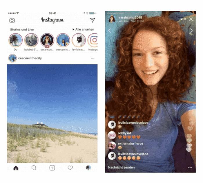 Instagram Live Videos zur Story hinzufügen