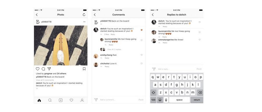 Neues Design für Kommentare auf Instagram