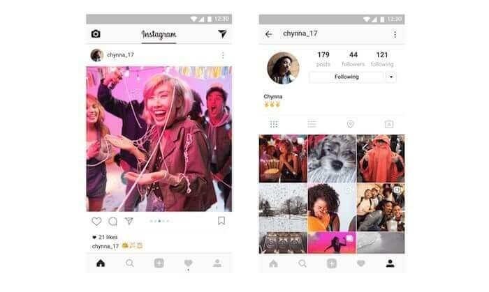 Mehrere Fotos in einem Posting auf Instagram