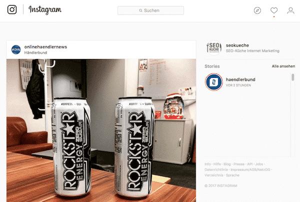 Instagram Stories am Desktop schauen