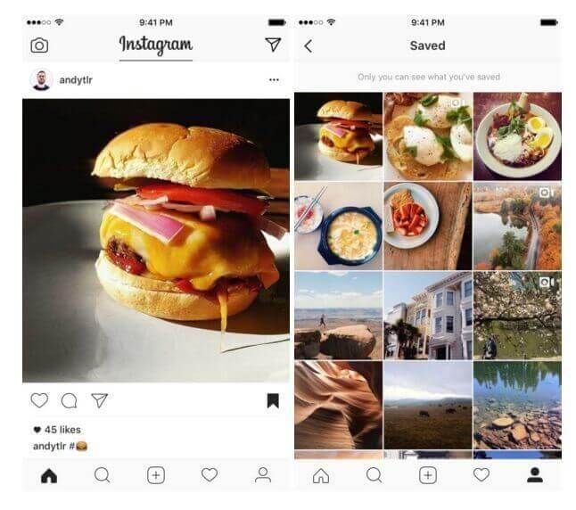 Gespeicherte Beiträge auf Instagram