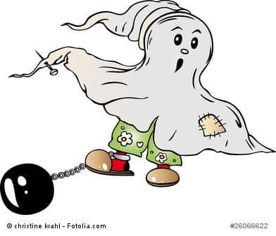 Halloween, Gespenst, Comic, Vector