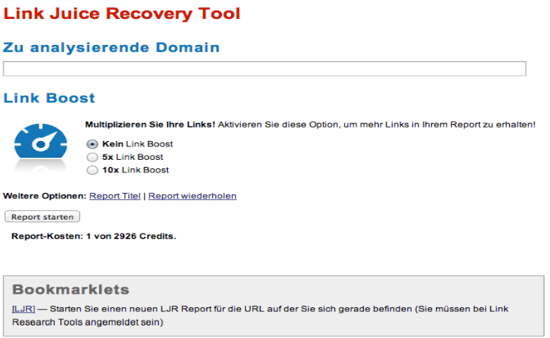 Link Juice Recovery Tool 2