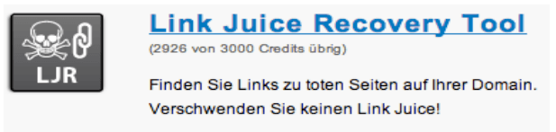 Link Juice Recovery Tool