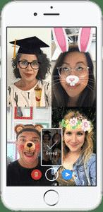 Screenshot vom Messenger Video Chat auf Facebook