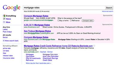Screenshot neue Anzeigenpositionen bei google Adwords