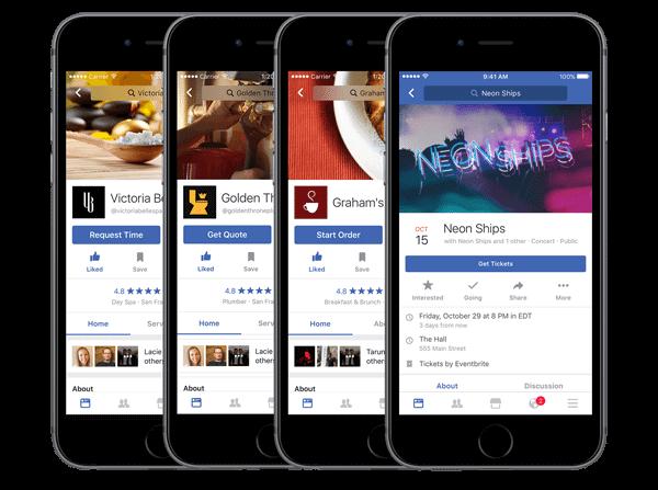 Funktionen der Facebook Call-to-Action Schaltfläche