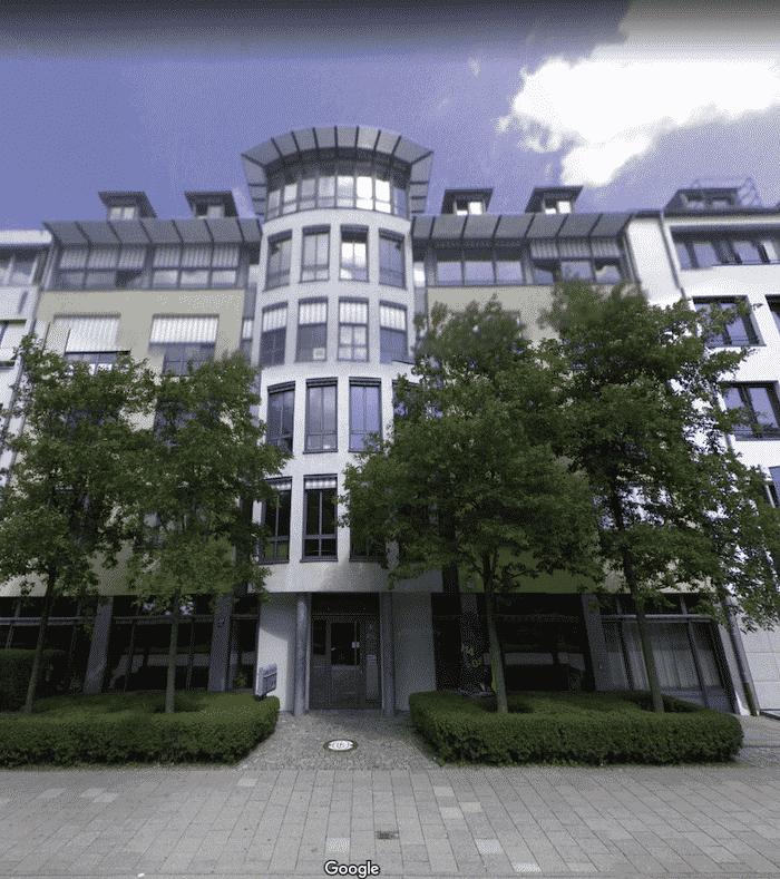 Unser neuer Standort in München, auf Google Earth.