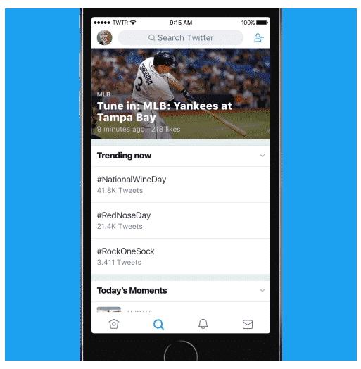 Twitter in neuem Design