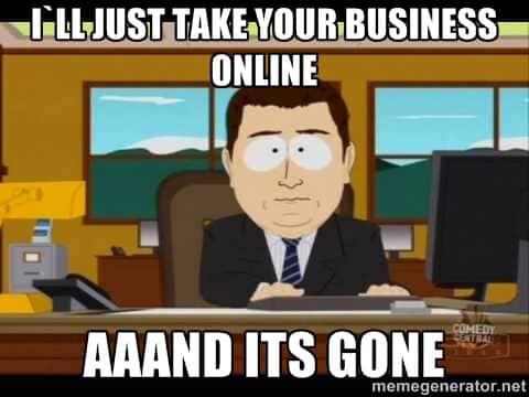 Onlinehandel vs Ladengeschäft