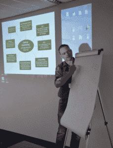 Referent Carsten Schumann beim Onlinemarketing Seminar des Händlerbundes
