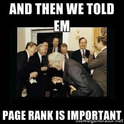 PageRank ist nicht wichtig