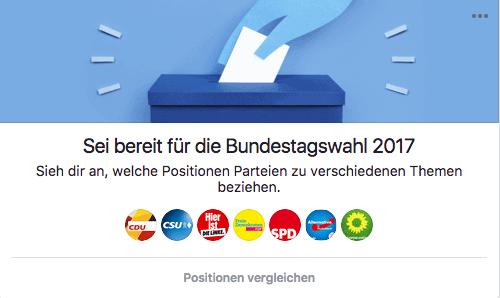 Bundestagswahl auf Facebook
