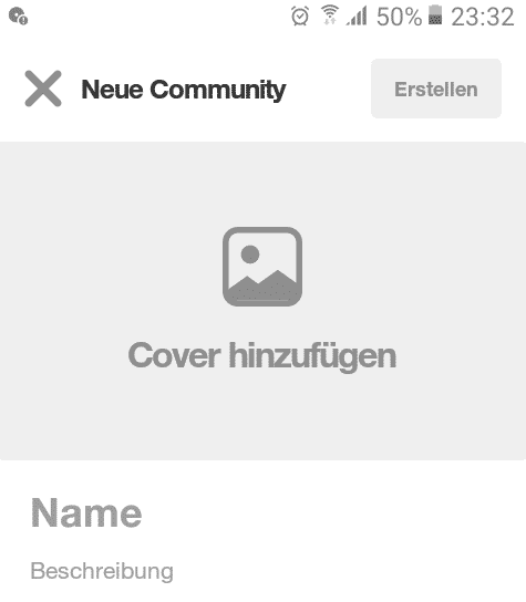 Pinterest Community erstellen