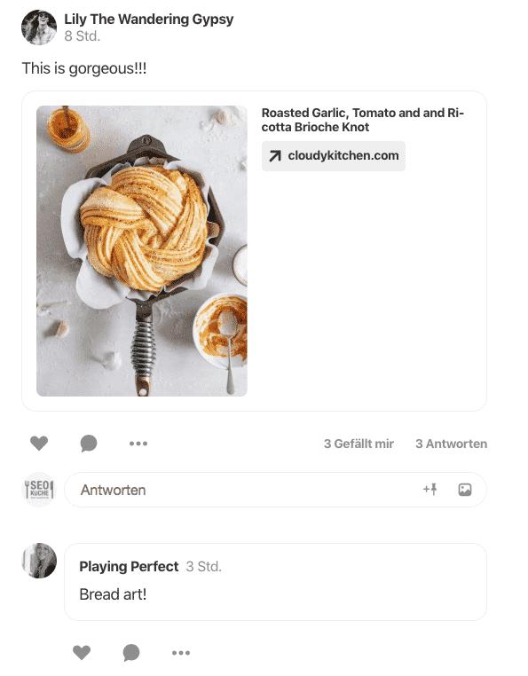 Postingbeispiel Pinterest Communities