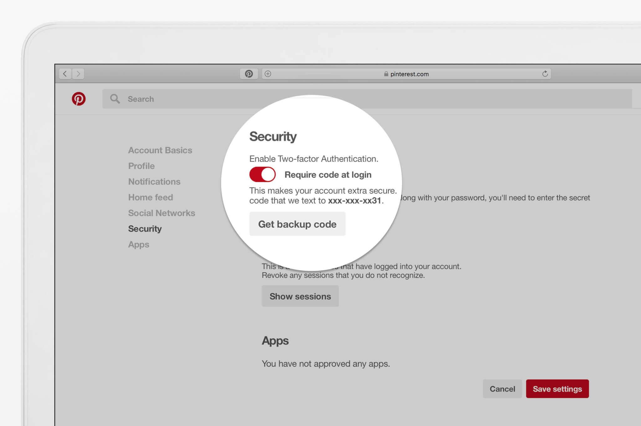 Neue Möglichkeiten zum Schutz des Pinterest-Kontos