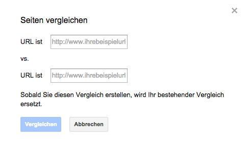 Vergleich zwischen URLs