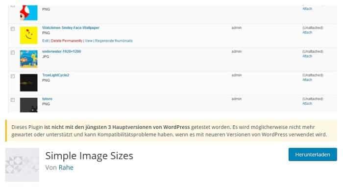 simple image sizes