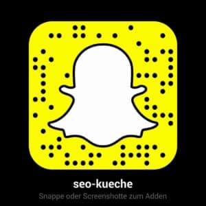 Die SEO Küche auf Snapchat