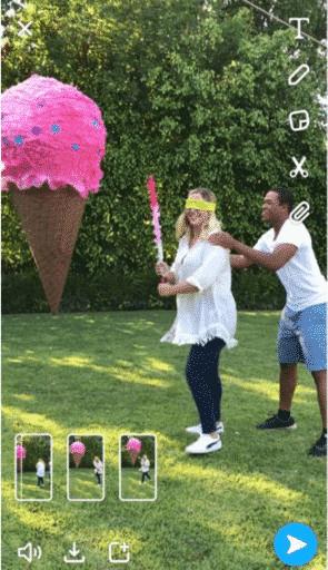 Multi Snaps auf Snapchat