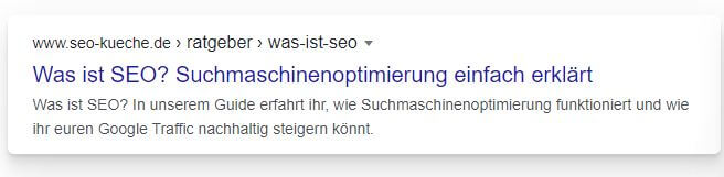 Snippetoptimierung